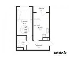 1-комнатные в ЖК Аспан-Сити от 10,03 млн тг
